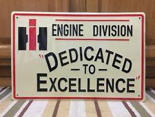 International Harvester Sign IH Engine Metal Farm Barn Tools Tractor Feed Hay