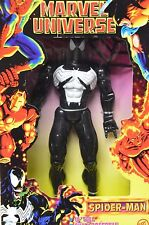 "Toy Biz Marvel Universe Spider-Man Black Costume Venom 10"" Action Figure NIP"