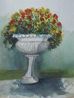 Suzanne Briley (20thC Anglo-American) Still Life Watercolour Painting c1980s