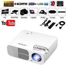 2018 LED Beamer Full HD 1920x1080 LCD Heimkino Video Projektor 1080 Projector TV