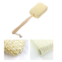Natural Sisal Fiber Bath Body Brush Spa Shower Back Sponge Scrubber Long Handle