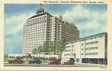 Linen postcard, The Shamrock, Magnificent Hotel, Houston, Texas