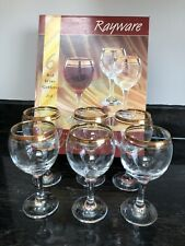 Vintage Rayware 6 Red Wine Goblets
