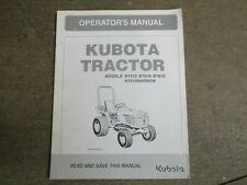 Kubota B7410 B7510 B7610 B 7410 7510 7610 tractor owners & maintenance manual