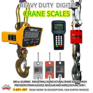 HANGING CRANE SCALE Heavy Duty MINI 300kg 3T 10T 50/100g Precise AUSSIE