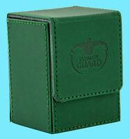 ULTIMATE GUARD XENOSKIN GREEN FLIP DECK CASE 80+ Standard Size Card Box mtg ccg