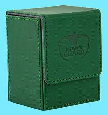 ULTIMATE GUARD XENOSKIN FLIP DECK CASE Standard Size GREEN 80+ MTG Card Box