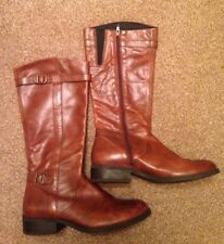 Brown Leather Vagabond Knee-High Boots Womens Size 40 (UK6)