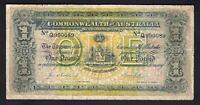 Australia R-18bF. (1913) Collins/Allen - 1 Pound. 1st Prefix Q,  Blue Serials aF