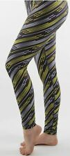 Backers Lined Yoga Workout Pants Leggings Medium (M) Med. Black / Green