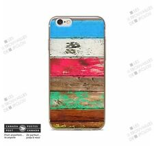 Case for Apple iPhone 7 Painted WoodBois Colorful Slim Soft Souple
