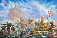 Tom duBois THE CELEBRATION Canvas Signed & Numbered w/coa Limited Noah's Ark
