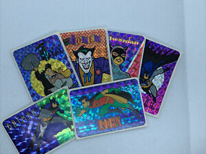 Batman Robin Joker Catwoman Penguin 1992 Prism Stickers Dc Comics