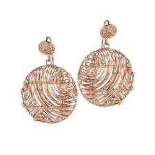 ORECCHINI BOCCADAMO Alissa, pendenti in bronzo rosato e glitter ref. XOR239RS