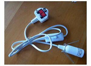 Salt LAMP Lead 1.5mt Plug-in Lamp Holder, Switch, Selenite Table Lamp Cord