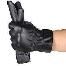 Winter Cashmere Leather Gloves Waterproof Driving