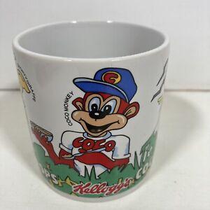 Vintage 1986 Kellogg's Coco Pops Cup Mug Breakfast Cereal Old School Monkey