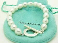 4d436808e Tiffany & Co. Sterling Silver Pearl Bead 7.5 Toggle Bracelet Pouch