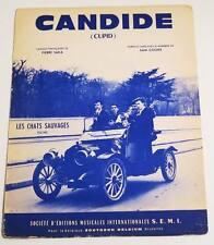 Partition sheet music LES CHATS SAUVAGES : Candide (Cupid) * 60's SAM COOKE