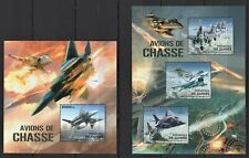 GUINEE 2012 AVIONS DE CHASSE MILITARY AIRPLANES INTERCEPTORS AVIA JETS WAR MNH**