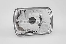 Headlight Universal Crystal Clear 200mmx142mm Sealed Beam Rectangular
