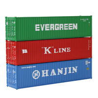 3pcs HO Scale 1:87 40ft Shipping Container 40' Cargo Box Cabinet Lot