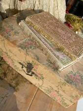 Deliciously shabby antique French paper covered roses wooden box & 2 books