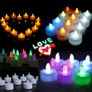 72-6X LED Candles Tealight Tea Lights Flameless Flickering Battery Operated