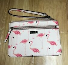 Kate Spade Shore Festive Flamingo Wristlet Bag