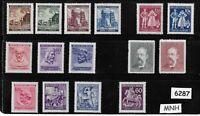 #6287      MNH stamp set Regular postage WWII Germany Occupation Third Reich era