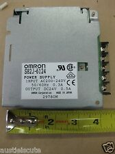 Omron Power Supply S82J-6124 200-240VAC Input 24VDC .5A Output PLC Control CNC