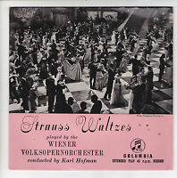 "VOLKSOPERNORCH Wiener Vinyl 45T EP 7"" WINE WOMEN AND SONG  STRAUSS COLUMBIA 5534"
