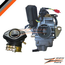26mm Carburetor & Intake manifold Kit for GY6 150cc Scooter Moped Sunl Carb NEW