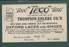 """Beloit,Wisconsin GPC, 1911. """"TECO SHOE"""" Advertisement."""