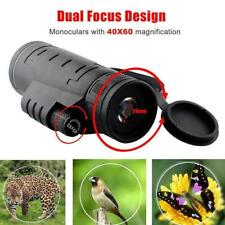 40X60 HD Optical Monocular Hunting Camping Hiking Telescope New