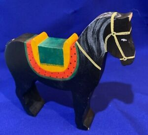KINDERKRAM / Ostheimer BLACK HORSE wooden circus toy RARE