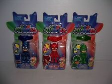 PJ Masks Set of 3 Catboy Owlette Gekko Light-Up Action Figure & Bracelet NEW!