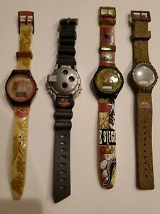 Vintage Lost World Jurassic Park Watches From Burger King 1997 Set Of All 4