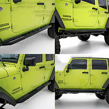 07-17 Jeep JK Wrangler W/ Star Step Armor Rock Sliders Rocker Guard Nerf Bar
