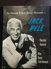Vintage Jack Pyle Promotional Fly Mentalist Humorist Master Showman