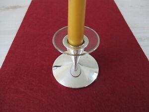 Tropfenfänger Bobeche Glas Silberrand für Kerzenständer NEU! Wachsstopper