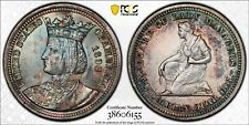 1893 Isabella Commemorative 25C Silver Quarter PCGS MS 62 Toned!