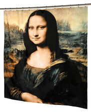 """Mona Lisa Museum Collection 100% Polyester Fabric Shower Curtain, 70"""" x 72"""""""