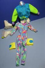 Hot Skatin MIDGE Barbie doll 1994 Tye Dye Jumpsuit Roller blade MATCHING JACKET