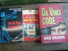 3 livres Da Vinci code + code da Vinci l'enquête + sur les pas du code Da Vinci