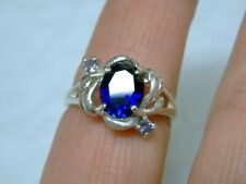 BLUE SAPPHIRE TANZANITE RING SIZE 7 925 STERLING SILVER USA MADE