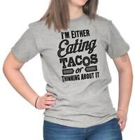Eating Tacos Or Thinking About It Mexican Foo Short Sleeve T-Shirt Tees Tshirts