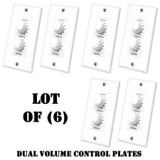 Lot of (6) Pyle PVCD15 In-Wall Two Speaker Dual Knob Independent Volume Control