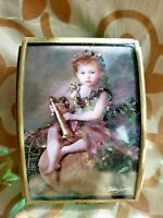 Vintage Enesco Lisa Jane Fairy Sprite Forest Baby Music Box Plays POLONAISE RARE