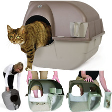 Self Clean Automatic Cat Litter Box Large Roll'n Kitty Plastic Pewter Tray Scoop